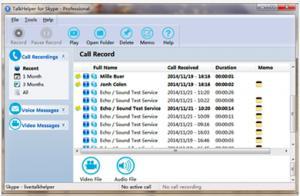 TalkHelper Free Skype Recorder 5.50 - náhled