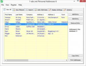 1-abc.net Personal Addresses 7.00 - náhled