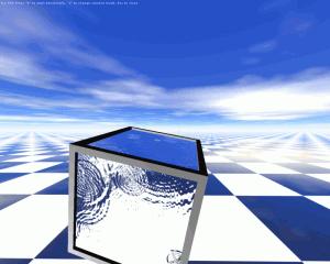 WaterCube3D Screensaver - náhled