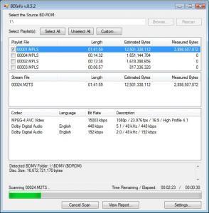 BDInfo 0.5.8 - náhled