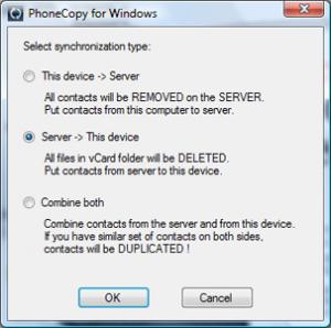 PhoneCopy for Windows 1.7.1 - náhled