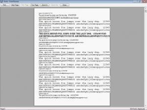 Font Runner 3.2.3 - náhled