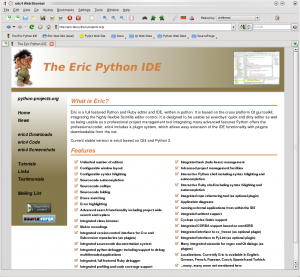 Eric IDE - náhled
