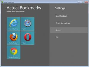 Actual Bookmarks 1.2 - náhled