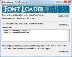 Font Loader - náhled