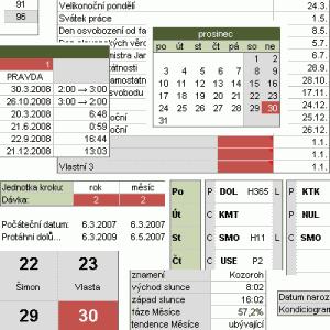Ukázka z Officírova kalendáře - náhled