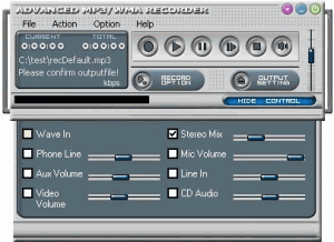 Advanced MP3/WMA Recorder 6.5 - náhled