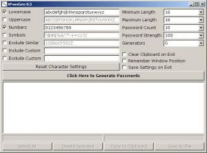 XPassGen 0.5 - náhled
