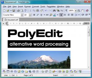 PolyEdit Lite 5.4 - náhled