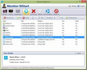 Monitor WStart 1.0.2 - náhled