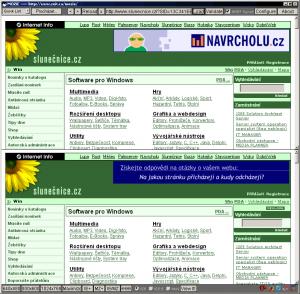 Porovnání webů - náhled