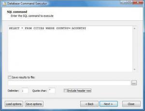 Database Command Executor 2.0 - náhled