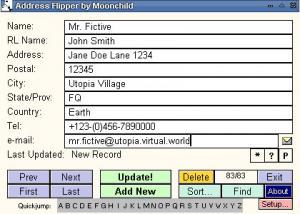Address Flipper 2.45 - náhled
