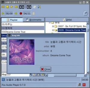 Fox Audio Player 0.9.0 - náhled