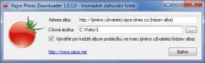 Rajce Photo Downloader 1.0.1.0 - náhled
