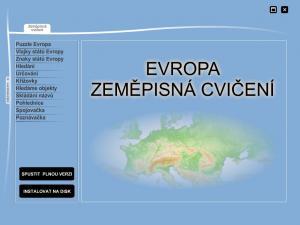 Zeměpisná cvičení - Evropa - náhled