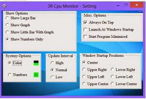 3R CPU Monitor 1.5 - náhled