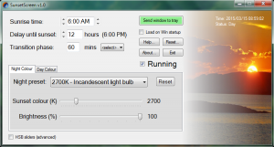 SunsetScreen 1.25 - náhled