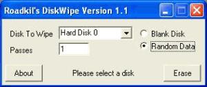 Roadkil's Disk Wipe 1.1 - náhled