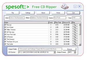 Spesoft Free CD Ripper 4.2 - náhled