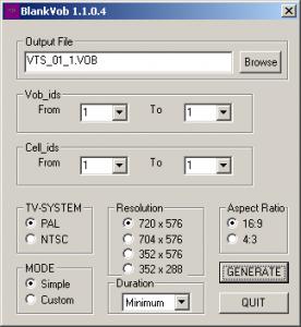 BlankVob 1.1.0.4 - náhled