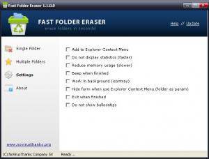 Fast Folder Eraser 1.1.0 - náhled
