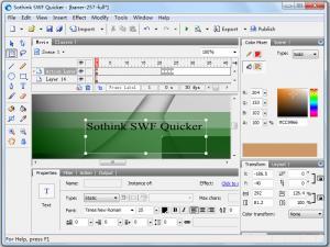 Sothink SWF Quicker 5.3 - náhled