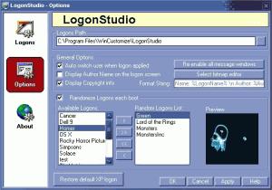 LogonStudio 1.5 - náhled