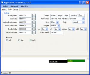Pure CSS Menu Creator 1.0.0.0 - náhled