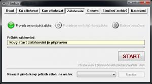 7 BackUp 1.6.11.311 CZ - náhled