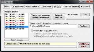 7 BackUp 1.7.14.450 CZ - náhled