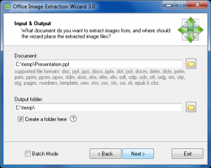 Office Image Extraction Wizard Portable 3.01 - náhled