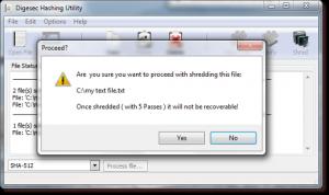 Digesec Hashing Utility Portable 2.0.0 - náhled