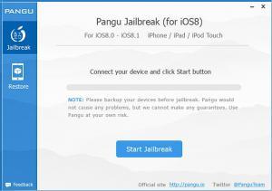 PanGu Jailbreak 1.3.1 - náhled