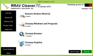 RRAV Cleaner 2.0.1 - náhled