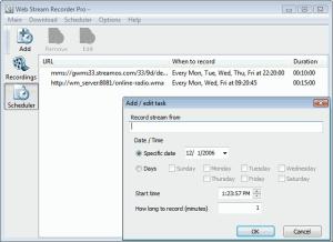 Web Stream Recorder Pro 3.0 - náhled