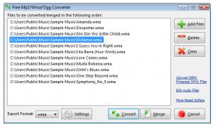 Free Mp3/Wma/Ogg Converter 3.9.8 - náhled