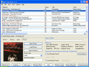 Mp3 Tag Tools 1.2 - náhled