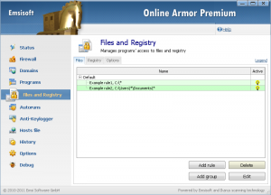 Online Armor Premium Firewall 5.1.1.1395 - náhled