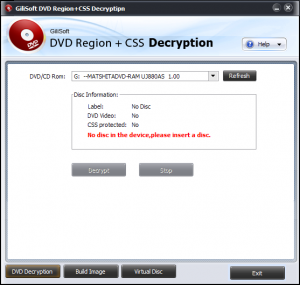 DVD Region CSS Decryption 2.2 - náhled
