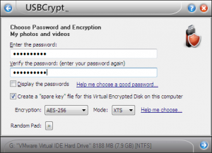 USBCrypt 16.10.1 - náhled