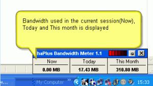 ShaPlus Bandwidth Meter 1.1 - náhled