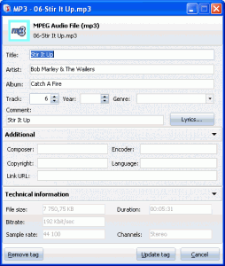Total Audio Tags 1.2 - náhled