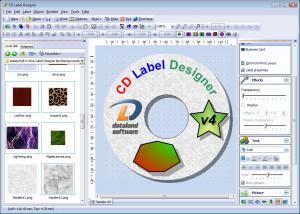 CD Label Designer 4.2 - náhled