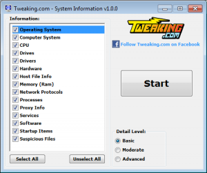System Information Tool 1.0.1 - náhled