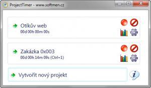 ProjectTimer 1.1 - náhled
