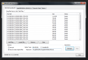 WinAES 0.2.2 - náhled
