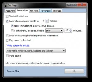 ScreenBlur 1.3.0.30 - náhled