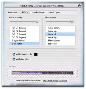 Userbar Generator 2.2 - náhled