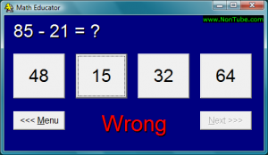 Math Educator 1.30 - náhled